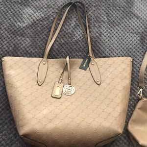 Bebe tote extra large with removable crossbody